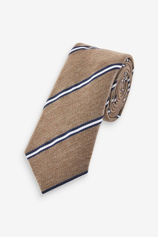 Brown/Navy Stripe Tie