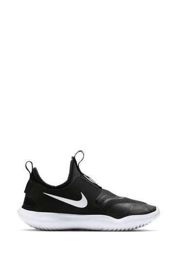 Nike Run Black/White Flex Runner Junior Trainers