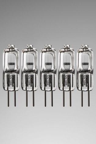 5 Pack 7W Halogen G4 Bulb