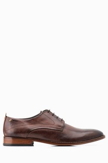 Base London® Brown Script Lace-Up Shoe