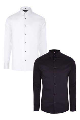 River Island White Muscle Shirt Two Pack