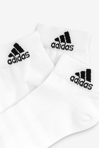 adidas Kids White Mid Cut Socks Three Pack
