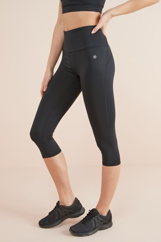 Black Technical Capri Leggings