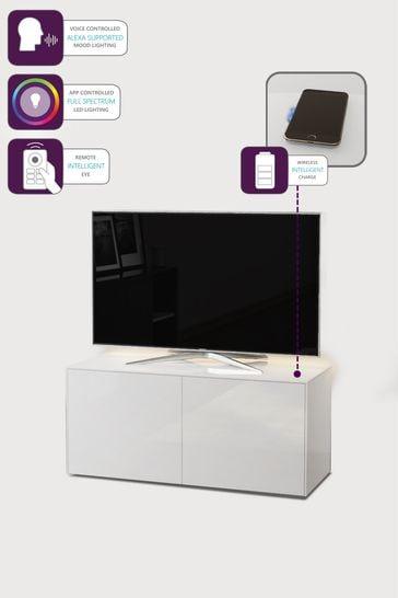 Frank Olsen Smart LED White Medium TV Cabinet