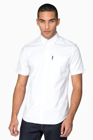 Ben Sherman White Short Sleeve Oxford Shirt