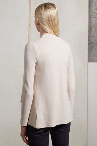 French Connection Cream Josie Jersey Drape Front Jacket