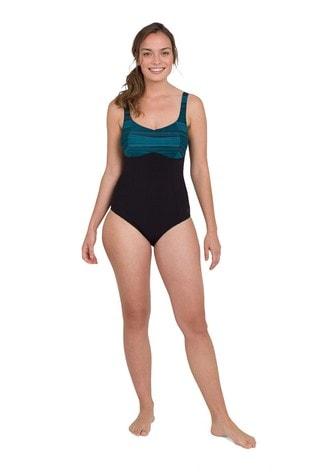 Speedo Black ContourLustre Printed 1 Piece Swimsuit