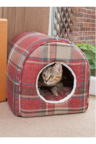 Tartan Pet Igloo Bed by Pet Brands