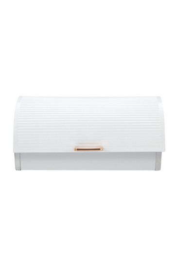 Tower White And Rose Gold Bread Bin
