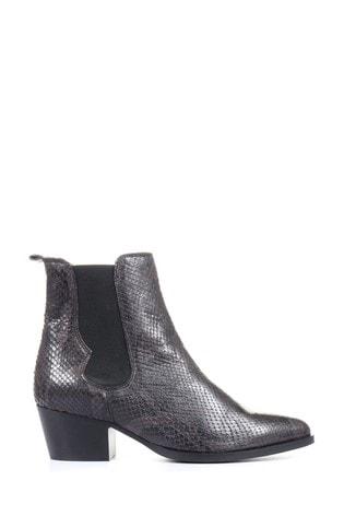 Jones Bootmaker Grey Animal Western Snake Print Ladies Boots