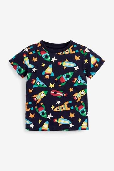Rainbow Rocket 3 Pack T-Shirts (3mths-7yrs)