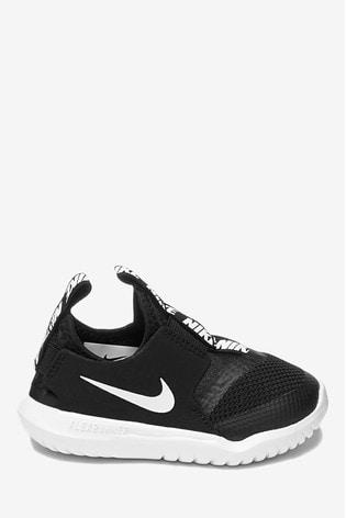 Nike Run Black/White Flex Runner Infant Trainers