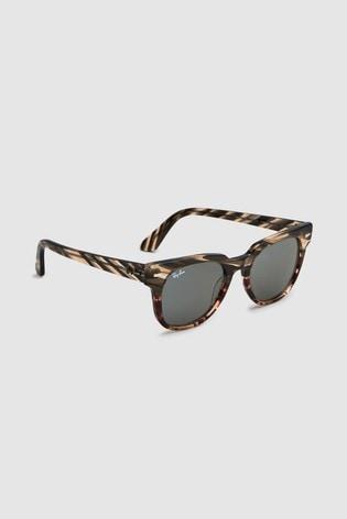 Ray-Ban® Grey/Brown Meteor Sunglasses
