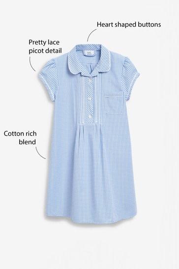 Blue Plus Fit Gingham Dress (3-16yrs)