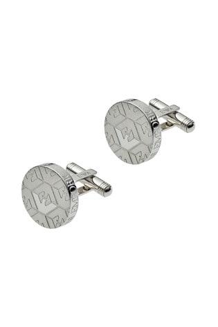 Silver Tone Emporio Armani Cufflinks