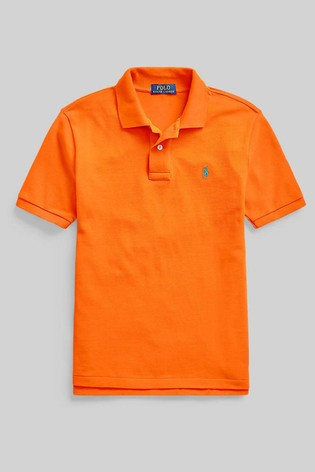 Ralph Lauren Orange Logo Polo