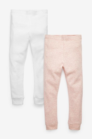 Pink/White 2 Pack Thermal Leggings (2-16yrs)
