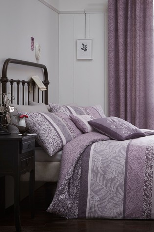 Hanworth Panel Stripe Duvet Cover And Pillowcase Set by D&D