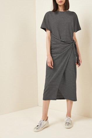 Next/Mix Tie Side Jersey Midi Dress