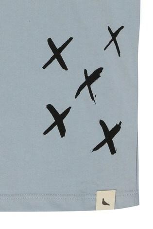 Turtledove London Blue Organic Cotton Sunshine Kisses Vest
