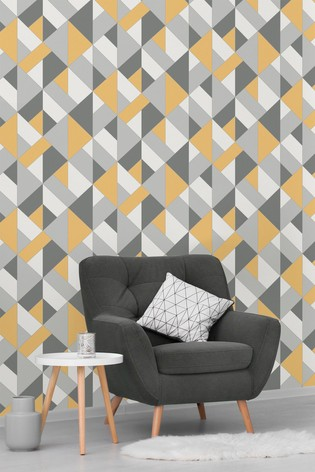 Urban Walls Structured Geo Wallpaper