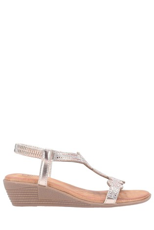 Divaz Pink Sasha Slip-On Sandals