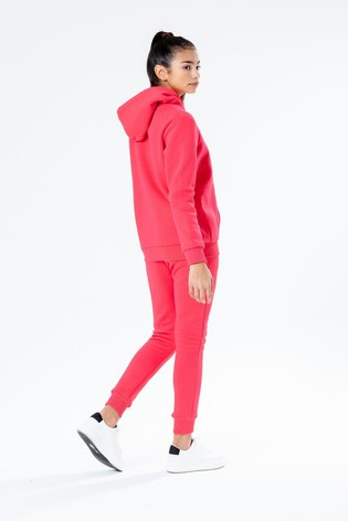 Hype. Red Overhead Hoody And Jogger Set
