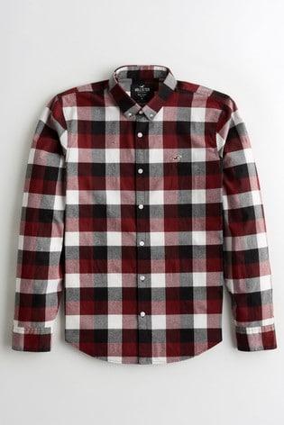 Hollister Burgundy Checked Shirt