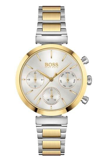 BOSS Flawless Two-Tone Bracelet Watch