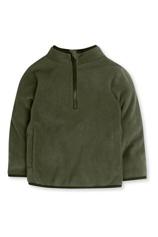 M&Co Kids Green Zip Neck Fleece