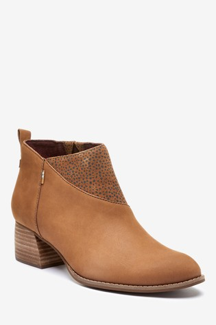 TOMS Leilani Leather Ankle Boots