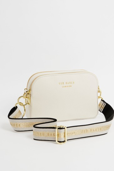 Ted Baker Cream Amerrah Branded Webbing Strap Camera Bag