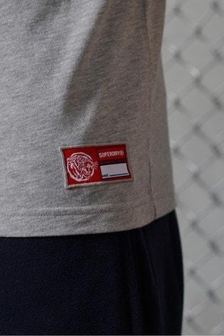Superdry Grey Track & Field Graphic Vest