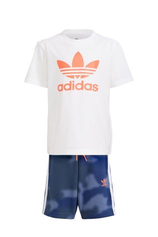 adidas Originals Little Kids Camo T-Shirt And Shorts Set