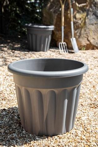 Set of 3 Wham Vista 50cm Black Plastic Round Planter