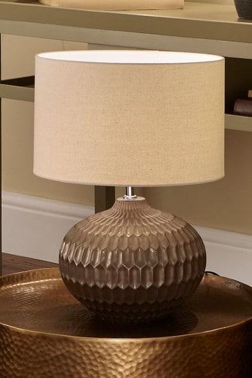 Pacific Bronze Cassius Textured Glazed Ceramic Table Lamp