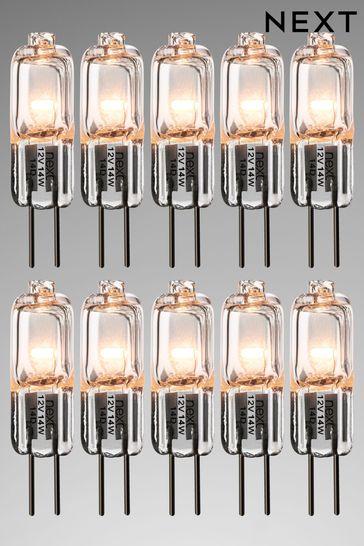 10 Pack 14W Halogen G4 Bulb