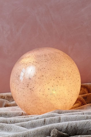 Large Glass Planet Ball With Lights