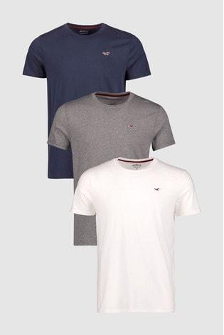 Hollister Basic Multi Short Sleeve T-Shirts Three Pack