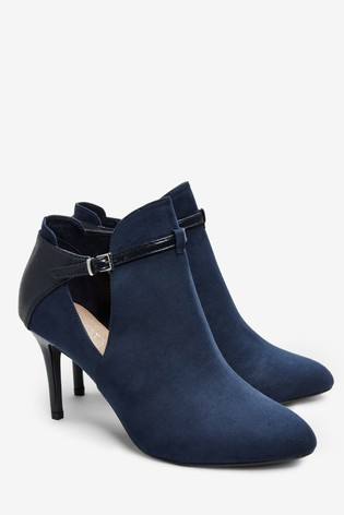 Navy Forever Comfort® Open Side High Heeled Shoe Boots