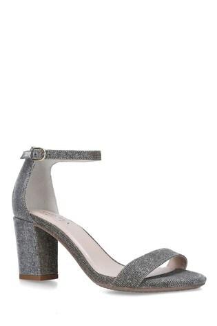 Carvela Metallic Abigail Fabric Heeled Sandals