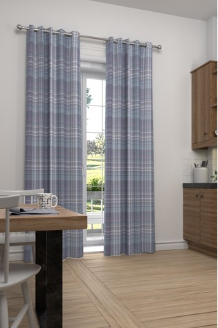 Hadley Dob Check Mauve Purple Made To Measure Curtains