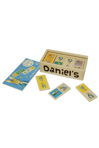 Personalised Peter Rabbit Wooden Dominoes by Signature PG