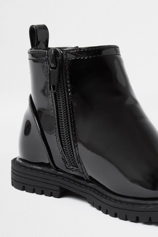 river island patent chelsea boots