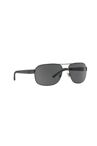 Polo Ralph Lauren® Grey Matte Dark Gunmetal Sunglasses