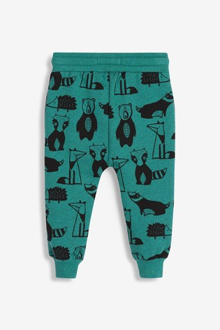Teal Woodland Joggers All Over Print Jersey (3mths-7yrs)
