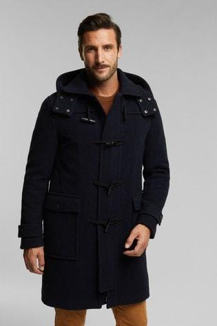 Esprit Blue Men's Regular Woven Coat