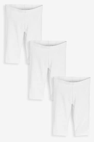 White 3 Pack Cropped Leggings (3-16yrs)