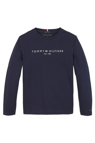Tommy Hilfiger Blue Essential Long Sleeve T-Shirt