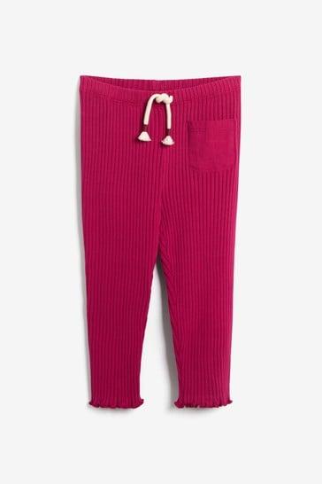 Red Soft Rib Leggings (3mths-7yrs)